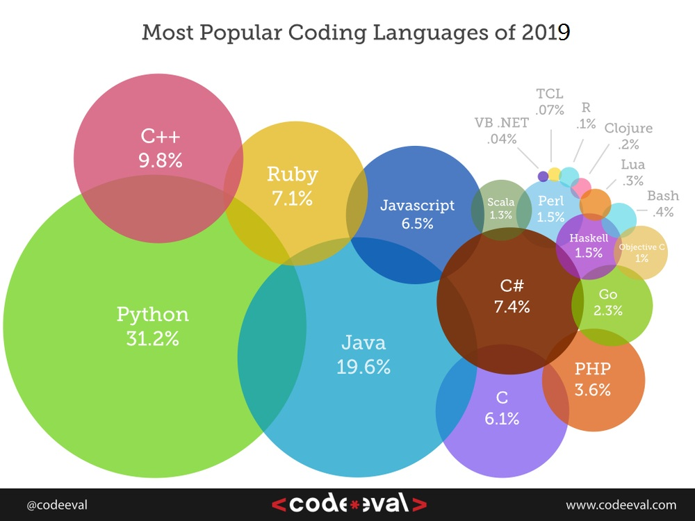 Most Popular Coding Languages of 2019